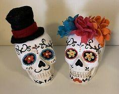 Mexican Halloween, Sugar Skull Halloween, Halloween Skeletons, Halloween Treats, Fall Halloween, Mexican Beach Wedding, Candy Bowl, Pattern, Handmade