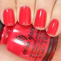 China Glaze Seas The Day | Summer 2014 Off Shore Collection | Peachy Polish #red