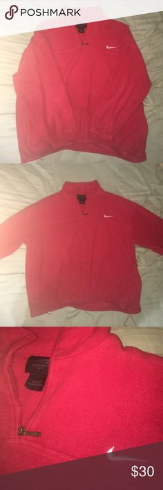 Nike Outwear No rips, frays, or stains. In very good condition, extremely warm fleece with adjustable drawstrings. Just too big for me, willing to negotiate a price. Nike Jackets & Coats