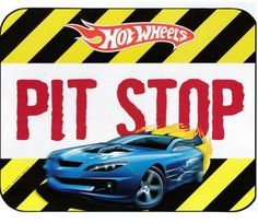 pit stop sign Hot Wheels Party, Hot Wheels Birthday, Happy Birthday Baby, 3rd Birthday Parties, Boy Birthday, Birthday Ideas, Themed Parties, Hot Wheels Bedroom, Animal Party