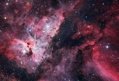 I love this picture! Eta Carinae and WR22 surrounding nebulosity.