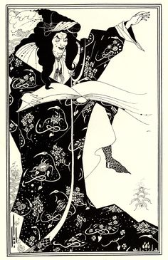 """Page: Design for a Frontispiece to 'Virgilius the Sorcerer' Artist: Aubrey Beardsley Style: Art Nouveau (Modern) Genre: illustration Technique: lithography Gallery: Private Collection Tags: fictional-characters, """"Virgilius-the-Sorcerer"""" Art And Illustration, Black And White Illustration, Brighton, Art Nouveau, Aubrey Breadsley, Japanese Woodcut, Ouvrages D'art, Design Graphique, Art Institute Of Chicago"""