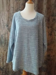 Women's Plus Size 3X Sweater Light Weight New Blue By Design