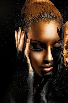 Black Girl Art, Black Women Art, Black Art, Art Girl, Black Gold, Black Canvas Art, Canvas Poster, Canvas Wall Art, Framed Canvas