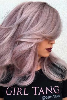 2017 Layered Haircuts and Hairstyles for Long Hair - New .- 2017 Layered Haircuts and Hairstyles for Long Hair hairstyles # 2017 - Lavender Hair, Lilac Hair, Light Purple Hair, Pink Grey Hair, Hair Color And Cut, Cool Hair Color, Hair Colors, Hair Shows, Layered Haircuts