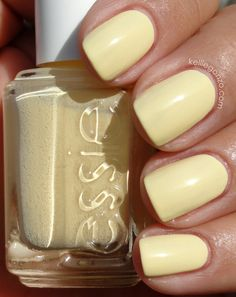 essie Barbuda Banana (this is the kind of yellow that I love. Not sure if I would wear it on my nails though) Get Nails, Love Nails, How To Do Nails, Pretty Nails, Hair And Nails, Spring Nails, Summer Nails, Manicure And Pedicure, Pedicures