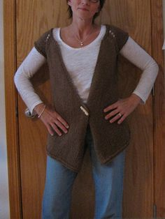 """PEPYS VEST by Ellen Susanne. Free Ravelry Download. This vest is named in honor of Samuel Pepys, who recorded in his diary, (October 8, 1666) that King Charles II of England """"hath yesterday, in Council, declared his resolution of setting a fashion for clothes…. It will be a vest, I know not well how; but it is to teach the nobility thrift."""" The Pepys Vest is a simple, seamless, reversible vest, knit flat from the top down on a circular needle. The raglan style sleeves are held on a stitch…"""