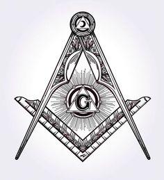 Stock vector of Freemasonry Emblem Masonic Compass Symbol. Vector Art by itskatjas from the collection iStock. Get affordable Vector Art at Thinkstock Canada. Freemason Tattoo, Masonic Tattoos, Freemason Symbol, Masonic Art, Masonic Lodge, Masonic Symbols, Masonic Order, Masonic Signs, Alchemy Elements