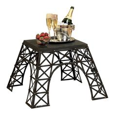 Eiffel Tower End Table in Enamel
