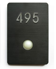 Black Doorbell From Luxello