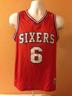 NBA Hardwood Classics 1982 83 Red Sixers 6 Erving Jersey Medium | eBay