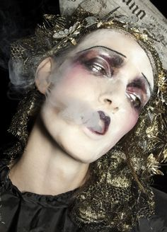 John Galliano runway make up. I love it.