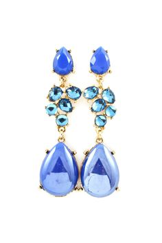 Magali Earrings in Prussian Blue