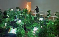"Nam June Paiks ""TV-Garden"" Shirin Neshat, Nam June Paik, Plant Lighting, Video Installation, Live Plants, Light Art, Plant Decor, Art Projects, Contemporary Art"