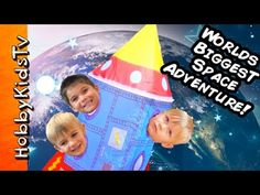 Worlds BIGGEST Outer SPACE SHIP to Moon! Surprises+Astronauts Adventure Science Lab by HobbyKidsTV - YouTube
