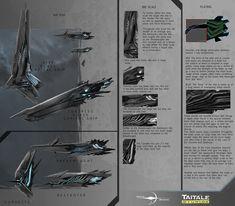 Verunas Ship Concept Art - Novus Aeterno by AdamBurn