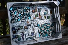 Silver Mosaic Serving Tray w / Silver & by WiseCrackinMosaics, $65.00   SOLD!!