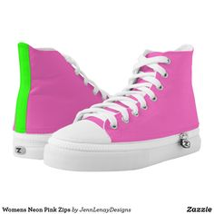 5072bd5ae Womens Neon Pink Zips High-Top Sneakers