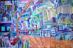 "Saatchi Art Artist Rizwana A Mundewadi; Painting, ""The Golden Basket of Dreams"" #art"