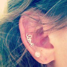 Love cartilage ear piercing