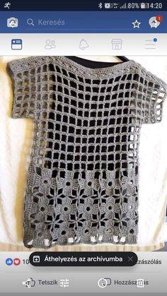 FILET KNITTING If you want more knitting patterns, knitting patterns and beautiful patterns … - Stricken 2020 Crochet Bolero, Gilet Crochet, Crochet Jacket, Crochet Cardigan, Crochet Stitches, Crochet Crafts, Easy Crochet, Diy Crafts, Knitting Patterns