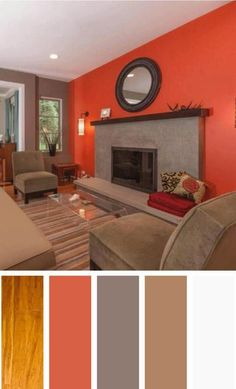 The living room color schemes to give the impression of more colorful living. Find pretty living room color scheme ideas that speak your personality. Modern Living Room Colors, Living Room Color Schemes, Paint Colors For Living Room, Living Room Designs, Living Rooms, Room Color Design, Room Wall Colors, Bedroom Colors, Design Apartment