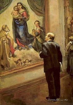 Налбандян Дмитрий Аркадьевич (1906-1993) «Ленин в Дрезденской галерее в 1914 году»