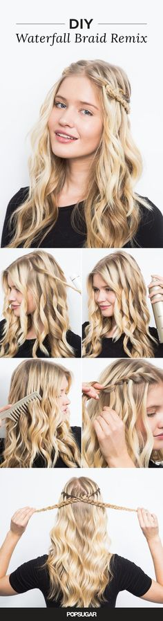 The waterfall braid looks way more complicated than it actually is!