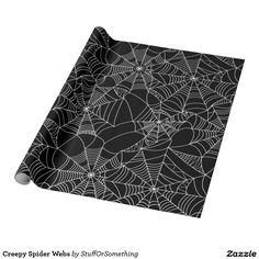 Creepy Spider Webs Wrapping Paper (x2)