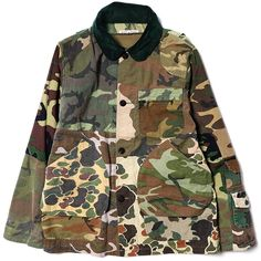 Rebuild By Needles Camouflage Shooter Jacket patchwork camo
