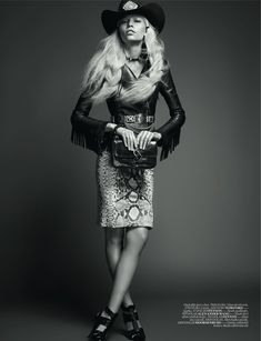 """Queen of the Rodeo""   Model: Aline Weber, Photographer: David Vasiljevic, Vogue Turkey, May 2012"