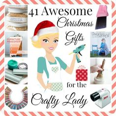 41 Christmas Gifts for the Crafty Lady in your Life - huge list of ideas and stocking stuffers!