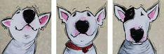 Buy THREE FELLOWS, Acrylic painting by Inez Froehlich on Artfinder. Discover thousands of other original paintings, prints, sculptures and photography from independent artists. Paintings For Sale, Original Paintings, Illustration Art, Illustrations, English Bull Terriers, Graphite Drawings, Happy Art, Fox Terrier, Bullies