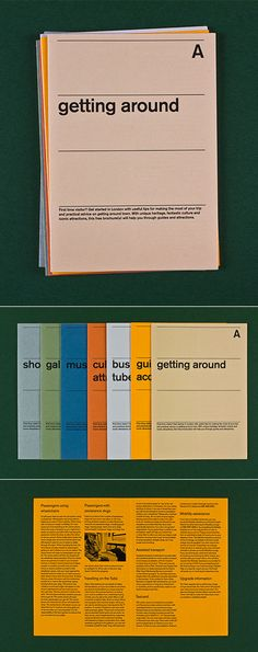 Some very nice work from André Meca. My favorite is this London Guide set in Akzidenz Grotesk.