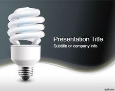 Plantilla PowerPoint de Electricidad es un diseño de Microsoft PowerPoint con una lámpara de bajo consumo fabricada en China que puede servir para crear atractivas presentaciones de PowerPoint para temas eléctricos