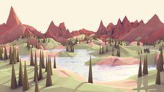 https://www.behance.net/gallery/21740259/Landscape-Studies-(client-confidential)