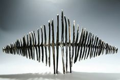 Ceramics by Antonia Salmon at Studiopottery.co.uk - 2012. Bridging Form, length 34cm.