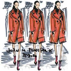 ReSketch #regram @imgmodels because I agree this @Fendi coat on @joansmalls is the yummiest too #MFW #fashion #illustration #fendi #JoanSmalls #IMGirls