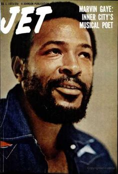Marvin Gaye on the Cover of Jet Magazine Jet Magazine, Black Magazine, Ebony Magazine Cover, Magazine Covers, John Johnson, Marvin Gaye, Marvin Marvin, Soul Singers, Black History Facts