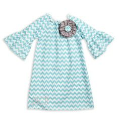 Check out this Aqua Chevron Charlotte Dress for $29 or find your favorite gifts at Lolly Wolly Doodle. Click on the link to receive three dollars off your next order!