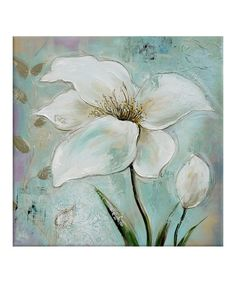 Look what I found on #zulily! Floral Series I Hand Painted Canvas #zulilyfinds