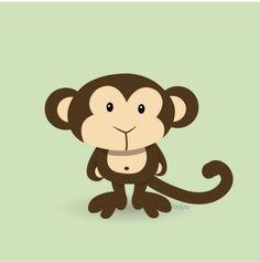 Monkey Print 12x12. $30.00, via Etsy.