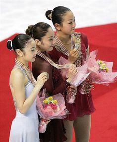安藤美姫、浅田真央、キム・ヨナ、フィギュアスケート世界選手権