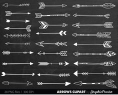 Chalk Tribal Arrows Clipart Arrows clip art by GraphicPassion Arrow Clipart, Small Arrow Tattoos, Heart Clip Art, Boarder Designs, Hand Drawn Arrows, Arrow Drawing, Tribal Arrows, Bullet Journal Books, Symbolic Tattoos