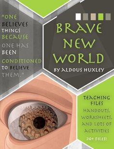 Aldous Huxley's Brave New World Unit Files: Activities, Handouts, and Worksheets A month's work of materials