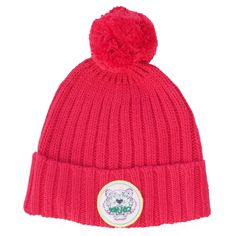 KENZO Kids Strawberry-red hat with label print From www.kidsandcouture.com