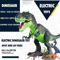 Electric Walking Dinosaur Toys with Music Light Spray Large Size Walk Sounds Animals Model Toys for Children Cartoon Dinosaur, Dinosaur Funny, Dinosaur Toys, T Rex Toys, Egg Toys, Largest Dinosaur, Dinosaur Pattern, Stress Toys, Light Music