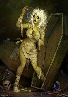 Awesome Halloween Horror Art from Matt Dixon - News - GeekTyrant: Zombie Kunst, Arte Zombie, Zombie Art, Zombie Pics, Arte Horror, Horror Art, Sexy Horror, Halloween Horror, Halloween Art