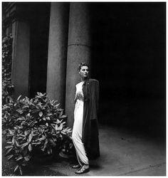 Countess Visconti (Simonetta Visconti, fashion designer) in Rome, July 1946. Photo by Clifford Coffin.