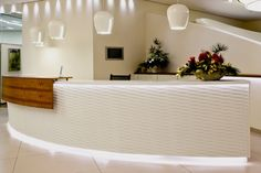 Reception counter front • Wavepanel • from 3dfoils